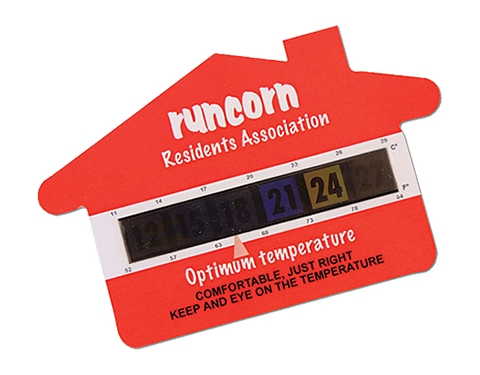 Small House Shaped Temperature Gauge Card