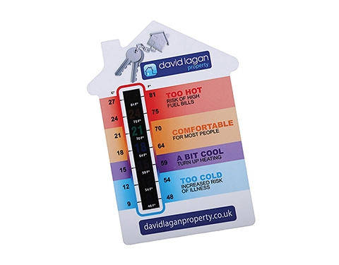A6 House Shaped Temperature Gauge Card