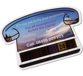 Small Telephone Shaped Temperature Gauge Card