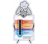 Custom Shaped Temperature Gauge Card