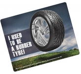 Rectangle Recycled Tyre Brite Mat  by Gopromotional - we get your brand noticed!