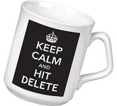 Keep Calm & Hit Delete Mug