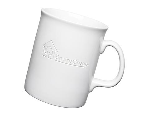 Atlantic Etched Mugs - White