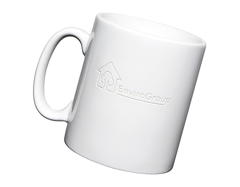 Durham Etched Mugs - White