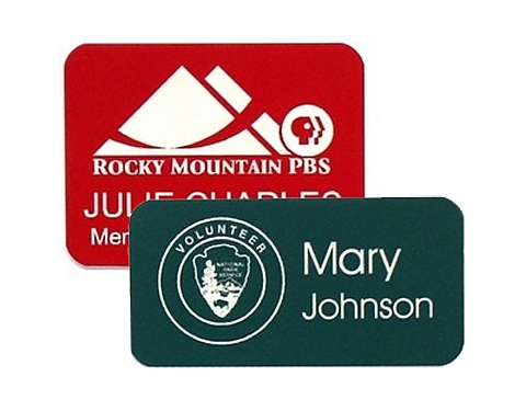 Coloured Acrylic  Name Badge