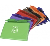 A7 Cavendish PVC Notebook & Pen  by Gopromotional - we get your brand noticed!