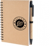 A6 Hamilton Natural Pocket Notebook & Pen  by Gopromotional - we get your brand noticed!