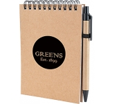 A6 Boston Natural Pocket Notebook & Pen  by Gopromotional - we get your brand noticed!
