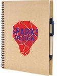 A4 Windsor Natural Spiral Bound Notebook & Pen  by Gopromotional - we get your brand noticed!