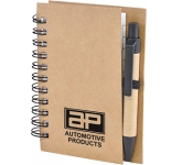 A7 Boston Natural Pocket Notebook & Pen  by Gopromotional - we get your brand noticed!