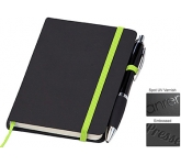 A6 Memphis Notebook & Contour Pen  by Gopromotional - we get your brand noticed!