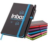 A6 Memphis Edge Notebook & Stylus Pen  by Gopromotional - we get your brand noticed!