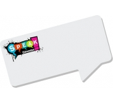 125 x 75mm Speech Bubble Shaped Sticky Note  by Gopromotional - we get your brand noticed!