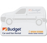 125 x 75mm Van Shaped Sticky Note  by Gopromotional - we get your brand noticed!