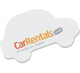 125 x 75mm Car Shaped Sticky Note  by Gopromotional - we get your brand noticed!