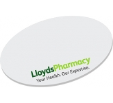 125 x 75mm Oval Shaped Sticky Note  by Gopromotional - we get your brand noticed!