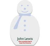 A6 Snowman Shaped Sticky Note  by Gopromotional - we get your brand noticed!