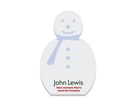 A6 Snowman Shaped Sticky Note