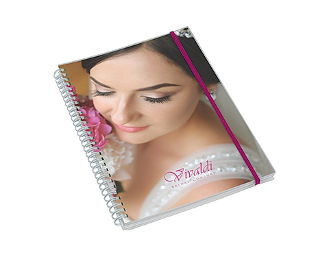 A4 Deluxe Polyprop Wirebound Notepad