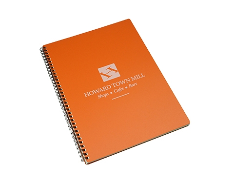 A4 Spectrum Polyprop Wirebound Notepad