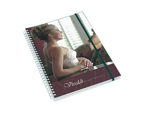 A5 Deluxe Polyprop Wirebound Notepad