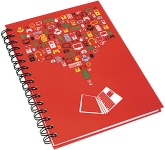A5 Wirebound Hardback Notepad  by Gopromotional - we get your brand noticed!