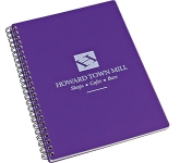 A5 Spectrum Polyprop Wirebound Notepad  by Gopromotional - we get your brand noticed!