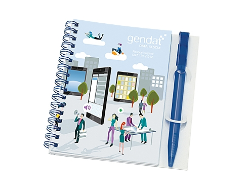 A6 Polyprop Spiral Bound Notepads & Pen