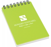 A6 Spectrum Polyprop Wirebound Notepad  by Gopromotional - we get your brand noticed!