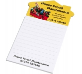 House Shaped Magnetic Notepad  by Gopromotional - we get your brand noticed!