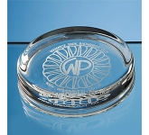 Barlow Large Round Glass Paperweight  by Gopromotional - we get your brand noticed!