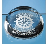 Edinburgh Lead Crystal Flat Top Paperweight  by Gopromotional - we get your brand noticed!