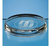 Wicklow Oval Glass Paperweight