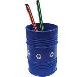 Oil Drum Pen Pot  by Gopromotional - we get your brand noticed!