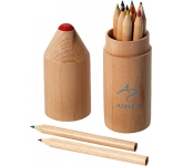Milan 12 Piece Coloured Pencil Set  by Gopromotional - we get your brand noticed!