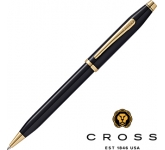 Cross Century II Black Lacquered 23ct Gold Plated Pen