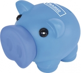 Percy Soft Feel Piggy Bank  by Gopromotional - we get your brand noticed!