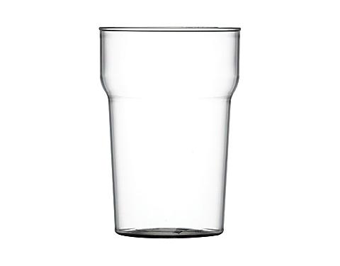 Premium Plastic Nonic Half Pint Glass