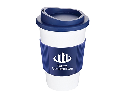 Classic Americano Grip 350ml Take Away Mugs - White