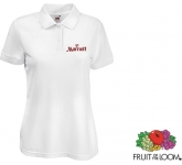 Fruit Of The Loom Women's Fit Polo - White