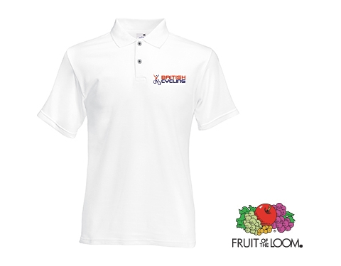 Fruit Of The Loom Original Polo Shirts - White