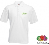 Fruit Of The Loom Value Weight Polo Shirts - White  by Gopromotional - we get your brand noticed!
