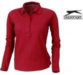 Slazenger Point Women's Long Sleeved Polo Shirt  by Gopromotional - we get your brand noticed!