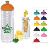 H20 Impact 650ml Domed Top Fruit Infuser Sports Bottle  by Gopromotional - we get your brand noticed!