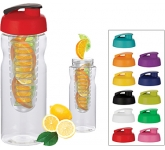 H20 Impact 650ml Flip Top Fruit Infuser Water Bottle
