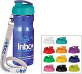 H20 Impact 650ml Flip Top Lanyard Water Bottle  by Gopromotional - we get your brand noticed!