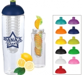 H20 Marathon 700ml Domed Top Fruit Infuser Sports Bottle  by Gopromotional - we get your brand noticed!