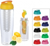 H20 Marathon 700ml Flip Top Fruit Infuser Sports Bottle  by Gopromotional - we get your brand noticed!