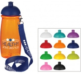 Splash 600ml Domed Top Lanyard Sports Bottle  by Gopromotional - we get your brand noticed!