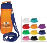 Splash 600ml Flip Top Lanyard Water Bottle  by Gopromotional - we get your brand noticed!